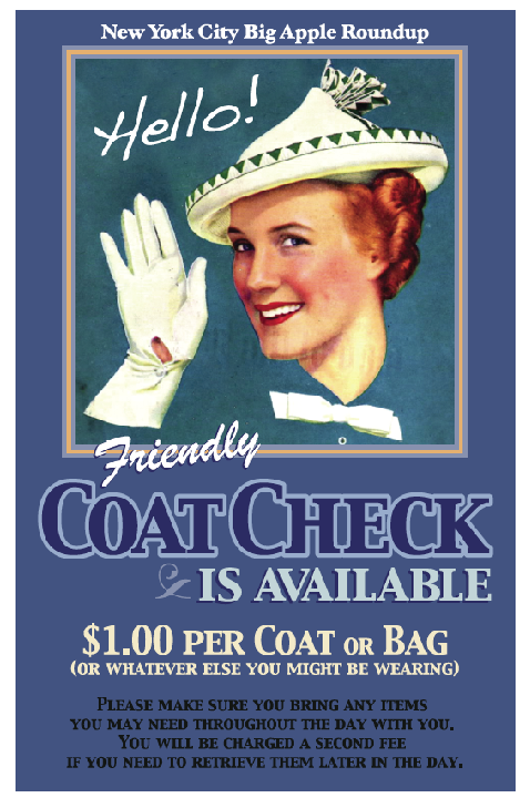 2012 Coat Check Sign